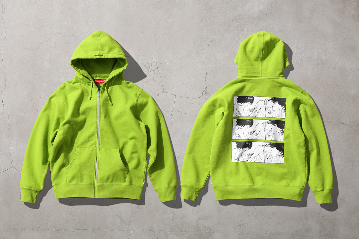 Akira Supreme Arm Hooded Sweatshirt Green Lime