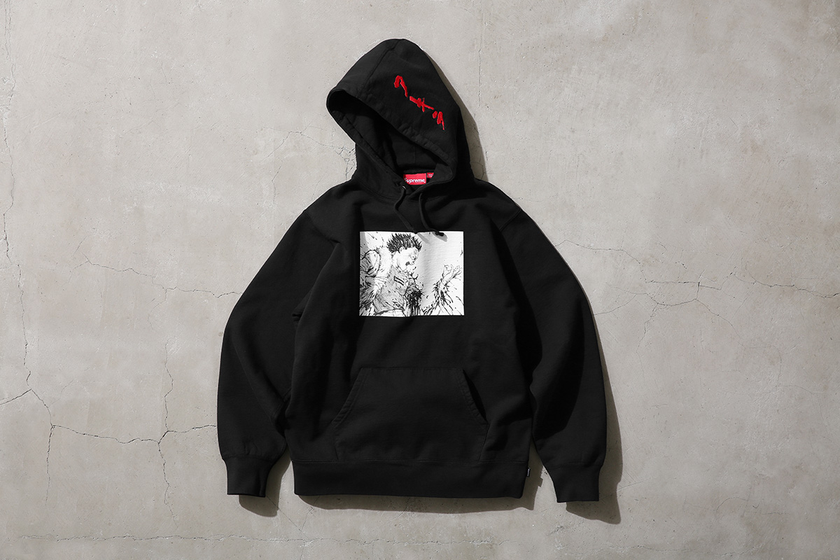 Akira Supreme Arm Hooded Sweatshirt Black