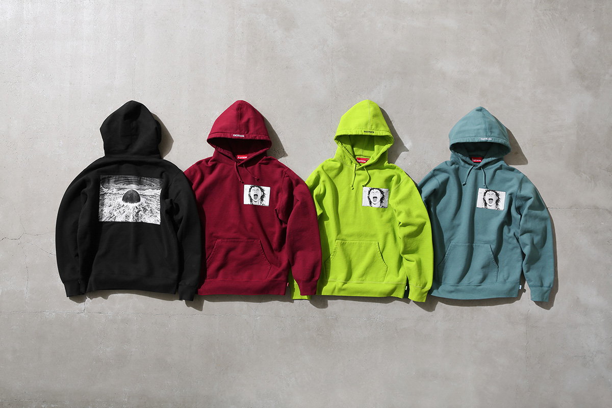 Akira Supreme Hooded Sweatshirt with Woven patch All Colors