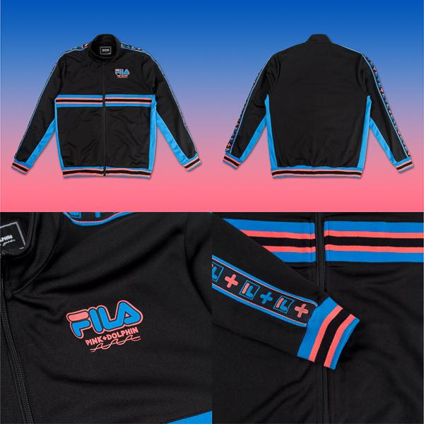 FILA x Pink Dolphin collaboration heritage wave track jacket