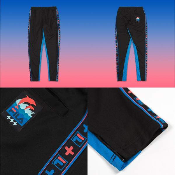 fila pink dolphin collaboration heritage wave-track-pant
