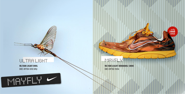 Nike Mayfly, Insect Inspired Sneakers