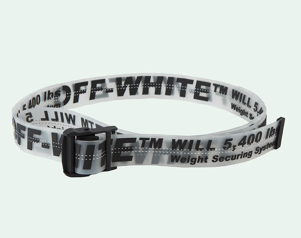 Sabuk Off White Industrial Belt Transparent