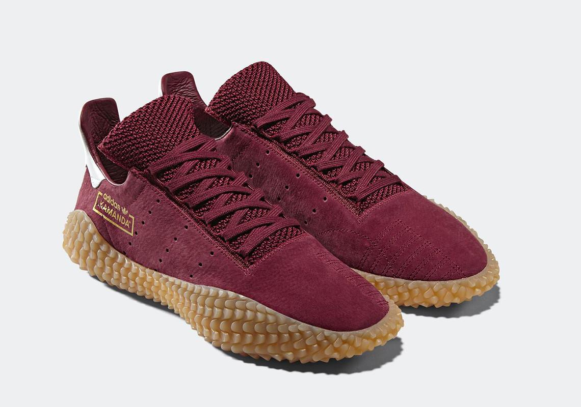 Sneaker adidas Kamanda 2018 Collegiate Burgundy Gum - Sepatu adidas originals terbaru - info rilis, warna, dan harga Indonesia