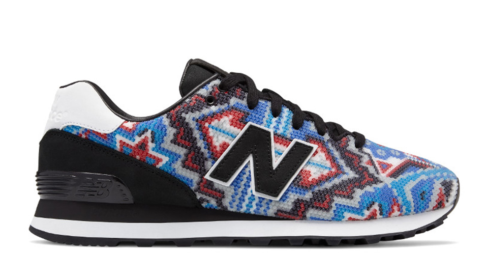 New Balance 574 x Ricardo Seco in Blue with Red Colorway