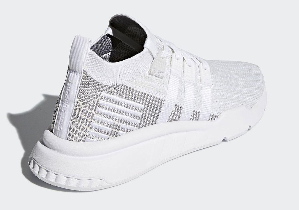Sepatu Sneakers Adidas EQT Support ADV Mid 2018 White Grey