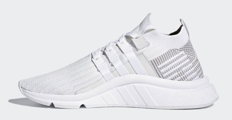 Sepatu Sneakers Adidas EQT Support ADV Mid 2018 White Grey