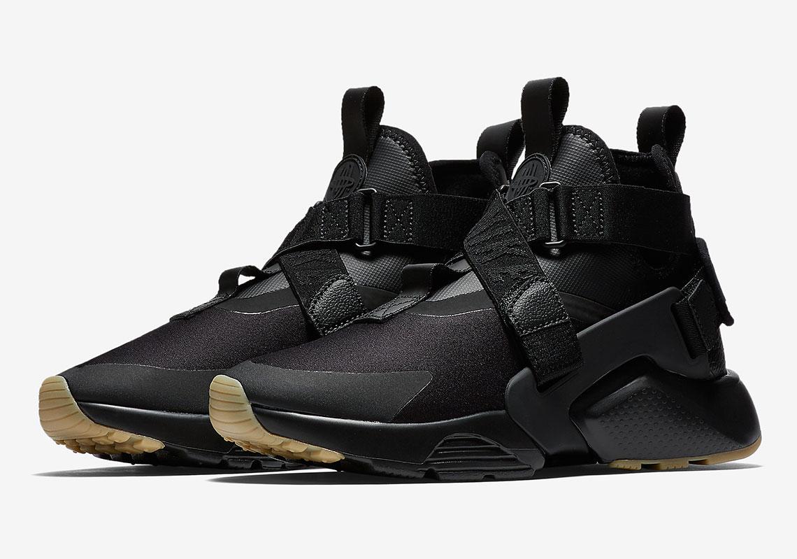 Sepatu Nike Air Huarache City 2018 Dirilis Dalam Colorway Black ...