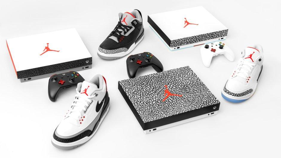 Konsol Xbox One X Air Jordan 3 Kolaborasi Microsoft Gratis Sebagai Twitter Giveaway