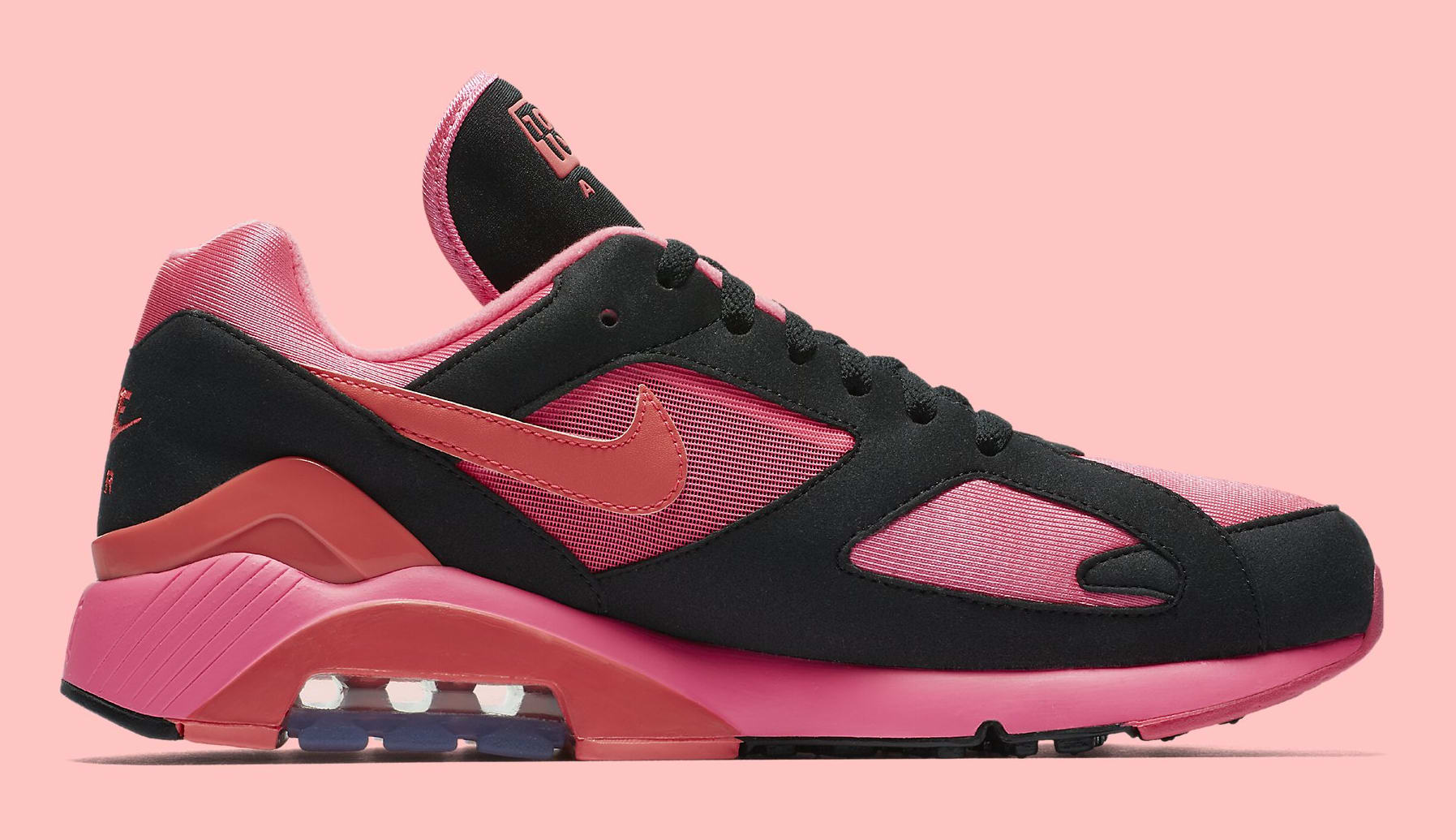 Sepatu Nike Air aMax 180 x Comme des Garcons CDG 2018 - Black Pink