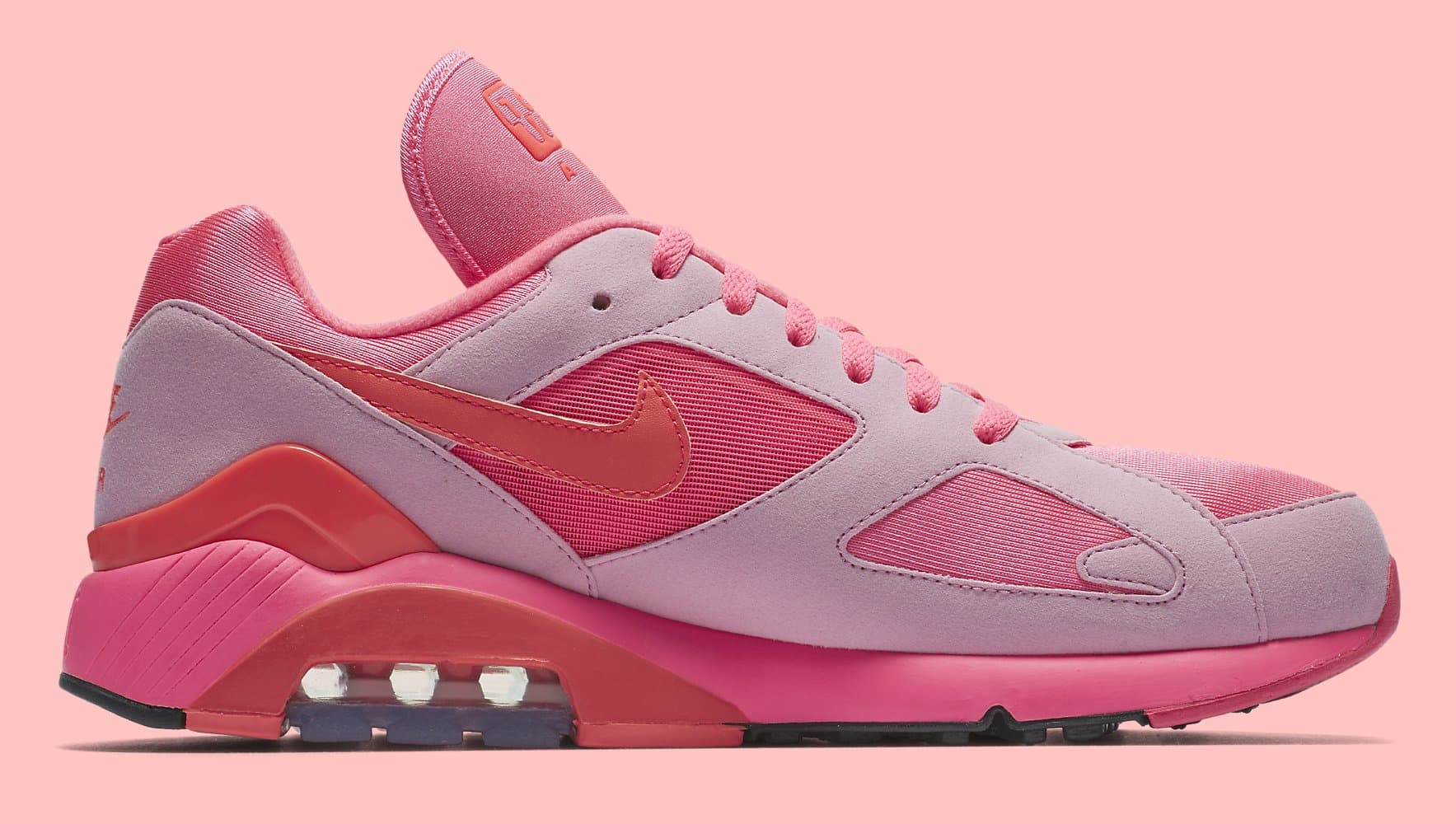 Sepatu Nike Air Max 180 x Comme des Garcons CDG 2018 - Pink Rise