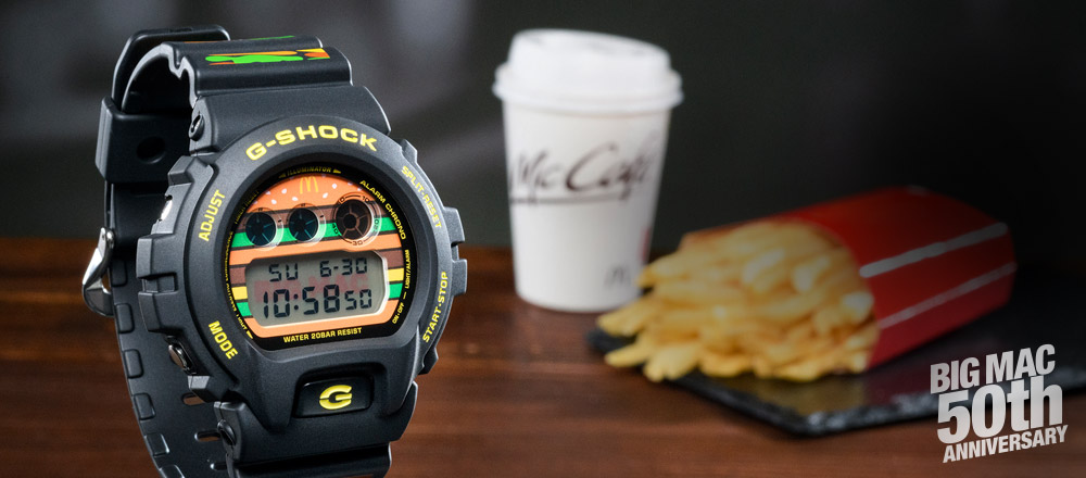 Jam Tangan G-Shock x McDonalds Big Mac 2018 - 50th anniversary McD Casio