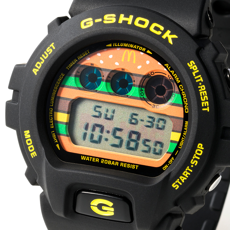 Jam Tangan G-Shock x McDonald's Big Mac 2018 - 50th anniversary McD Casio