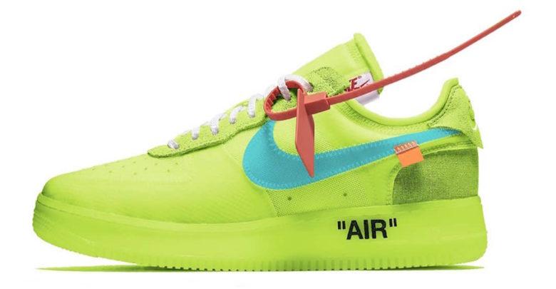 Sepatu Nike Air Force 1 x Off-White Volt Low 2018 - Sneaker Terbaru Nike x Off White Kolaborasi Virgil Abloh 2018 - Info Harga & Rilis