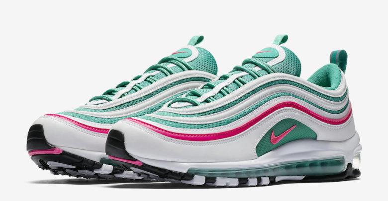 Sepatu Nike Air Max 97 South Beach - Sneaker Nike Terbaru 2018 - Pink Green - Info Rilis & Harga