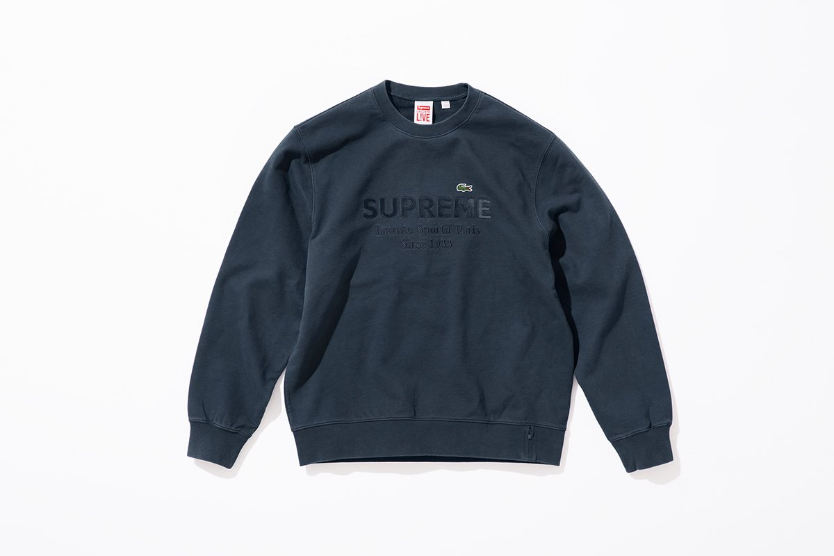 Supreme x Lacoste Hooded & Crewneck Sweatshirt, and Sweatshort