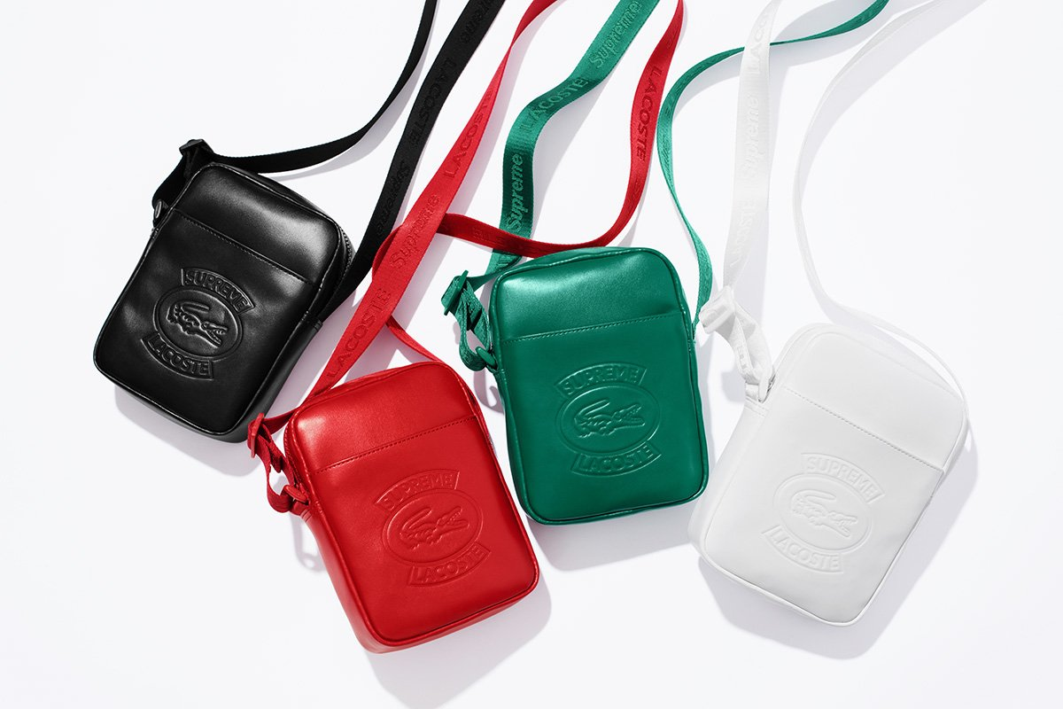 Tas Supreme x Lacoste Shoulder Bag