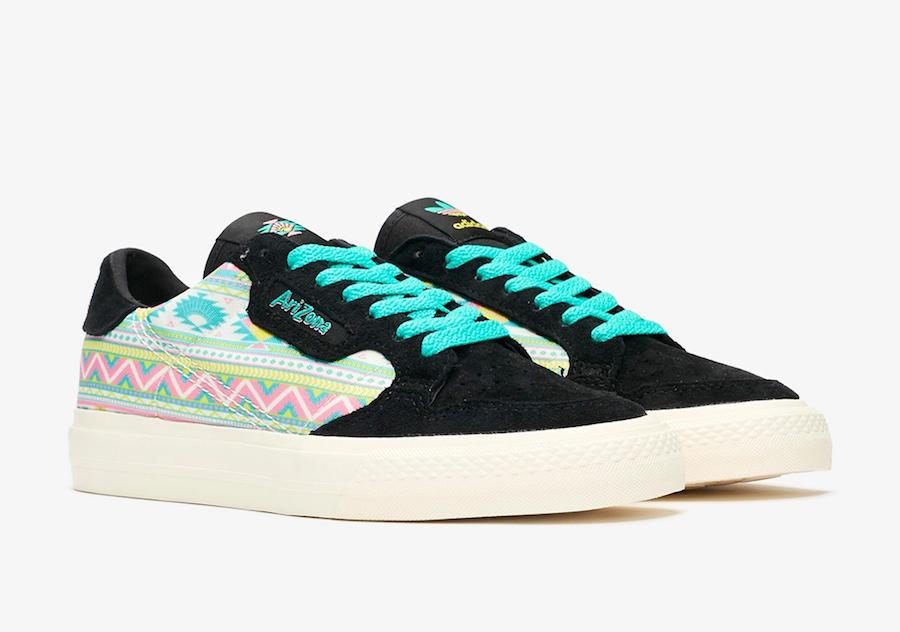 Sepatu adidas Arizona Iced Tea Sneakers Terbaru Kollaborasi - Continental Vulc & Adilette Slides - Info Harga & Rilis
