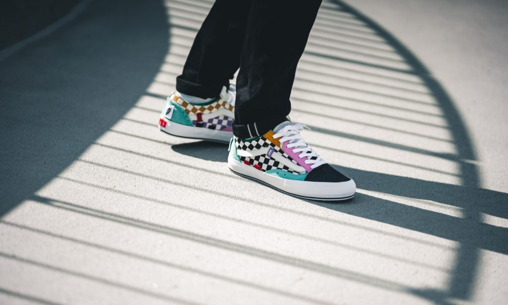 Sepatu Vans Old Skool Cap LX Regrind Multicolor Cut & Paste Holiday White / Black - Sneakers Terbaru 2020 - Info Rilis & Harga